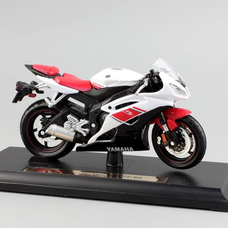 Brand 1/18 scale children YAMAHA YZF-R6 motorcycle super sport race metal Diecast bike car model engine Toy moto car new in box #Affiliate