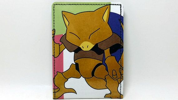Sewn Pokemon Handbook Wallet   Abra by DuctTuff on Etsy, $14.00