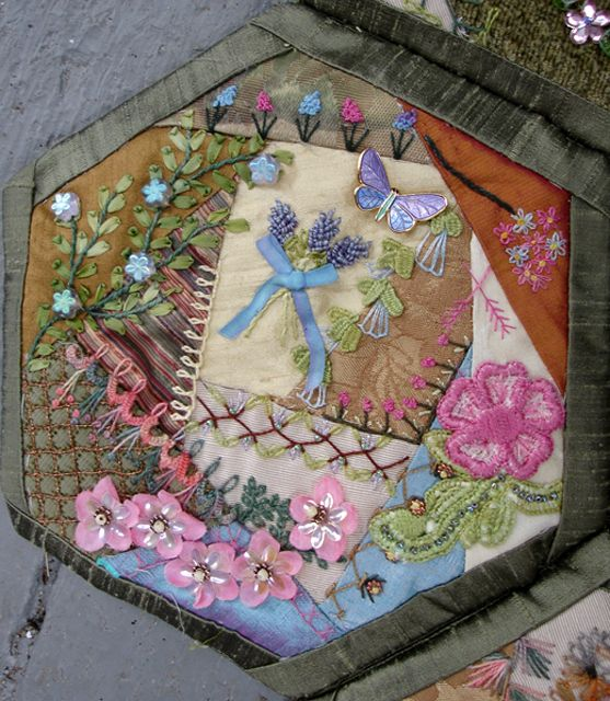 536 best Hexagon Crazy Quilting images on Pinterest | Embroidery ... : crazy quilt definition - Adamdwight.com