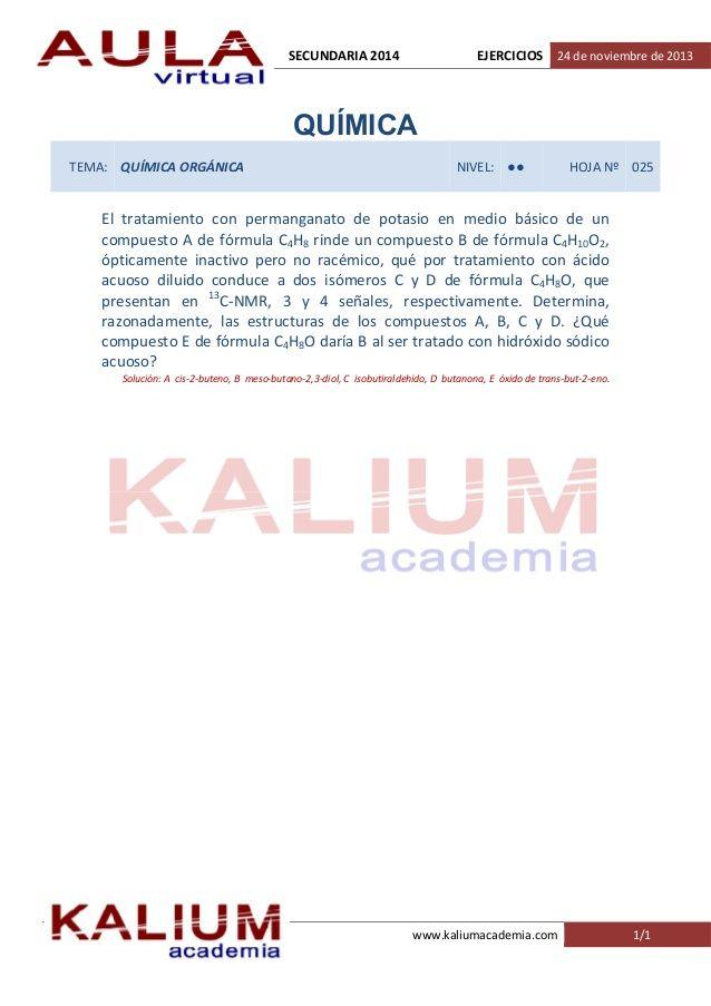 Sesión: Química Tema: Química Orgánica Nivel: II