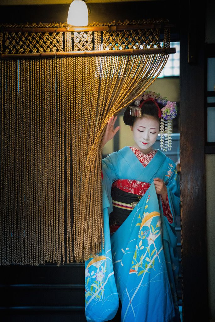 September 2016: first-year maiko Kikusana of Miyagawacho by Kyoto Flower Tourism