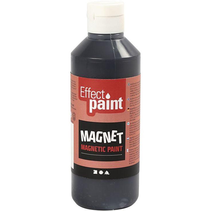 Magnetische verf, zwart, 250 ml