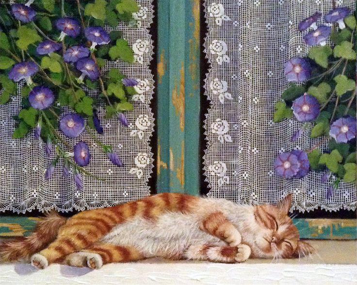 Сидит кошка у окошка... Fusun Urkun.. Обсуждение на LiveInternet - Российский Сервис Онлайн-Дневников