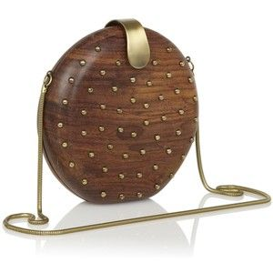 French Connection Spot Studded Clutch