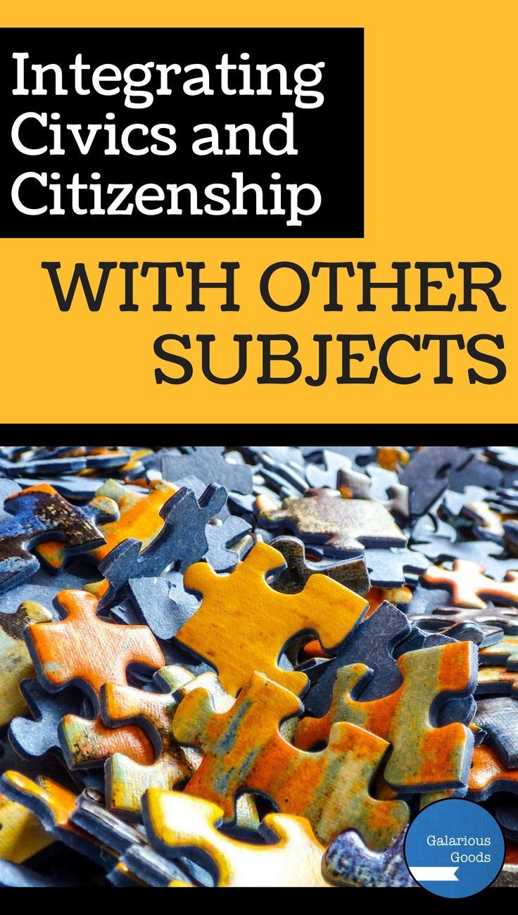 Integrating Civics and Citizenship with other subjects in the classroom. Blog post from Galarious Goods