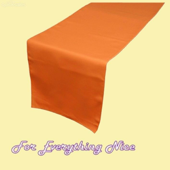 Orange Polyester Wedding Table Runners Decorations x 5 For Hire by J7339 - $30.00