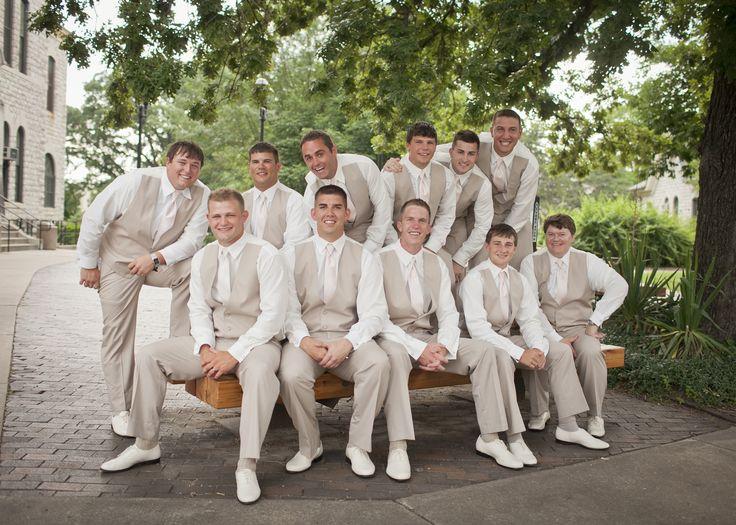 Tan Suit White Shoes