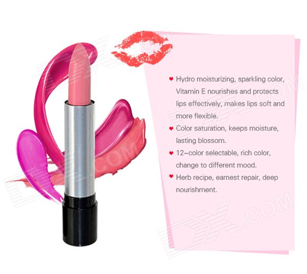 Hengfang H113 12-in-1 Moisturising Lipsticks Set - Multicolored (12 PCS) - Free…