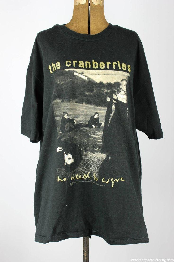 rare Vintage 1995 The Cranberries No Need to Argue World Tour T-shirt reprint////