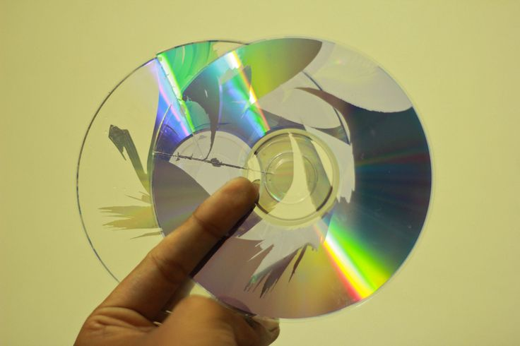 Simple instructions for separating & cutting CDs