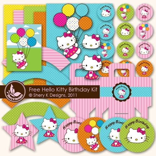 kit de fiesta imprimible gratuito: Birthday Kits, Birthday Parties, Hello Kitty Birthday, Parties Printable, Free Svg, Printable Hello, Parties Ideas, Free Printable, Hello Kitty Parties