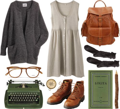 Rather simple, but I really like all of it. I might add tights though. The pencil is one of my favorite things.  :)