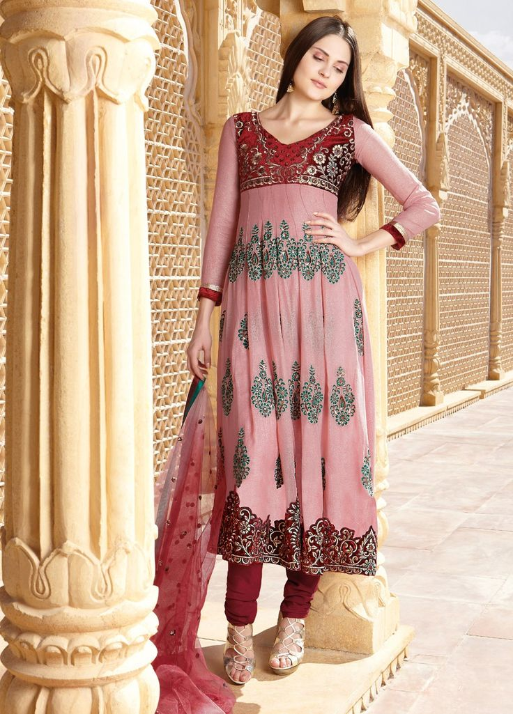 #Georgette #Embroiderd #suit with chiffon Dupatta