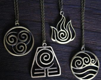 4 Nations the antique bronze Avatar: The Last Airbender jewelry/// oh my avatar!!! So much want right now