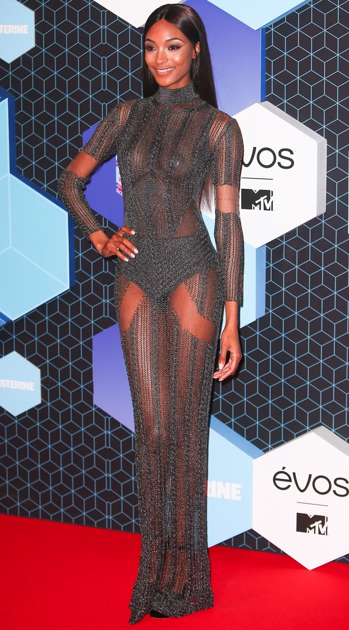 Jourdan Dunn showed off her supermodel body at the 2016 MTV European Music Awards held at Ahoy Rotterdam in Rotterdam, Netherlands, on November 6, 2016