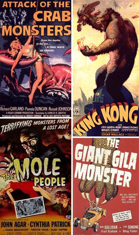 Monsters Attack! 26 Epic Retro Horror Movie Posters