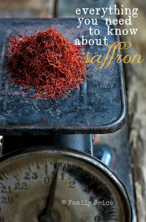 Everything you need to know about saffron by FamilySpice.com