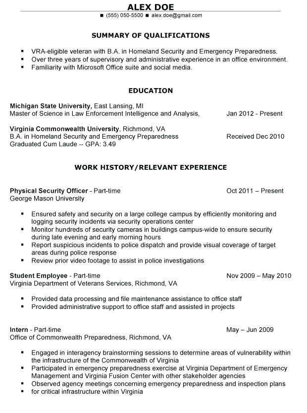 Military Veteran Resume Examples Builder New
