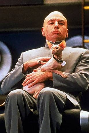 Dr. Evil's appearance is based on the James Bond supervillain Blofeld from You Only Live Twice.