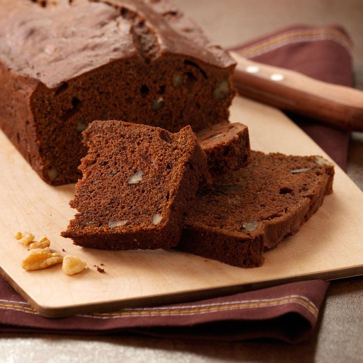 Chocolate Banana Bread Recipe -Nothing tops old-fashioned banana bread, except maybe this chocolate version! Each slice is studded with nuts. —Connie Deke, DeWitt, Nebraska