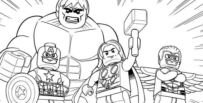 Coloring Page Lego Marvel