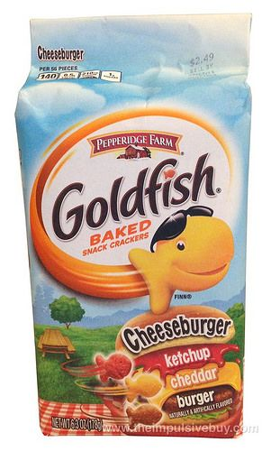 REVIEW: Pepperidge Farm Cheeseburger Goldfish Crackers
