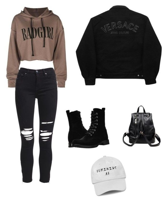 """""""Winter"""" by biudinca on Polyvore featuring AMIRI, Versace Jeans Couture and Frye"""