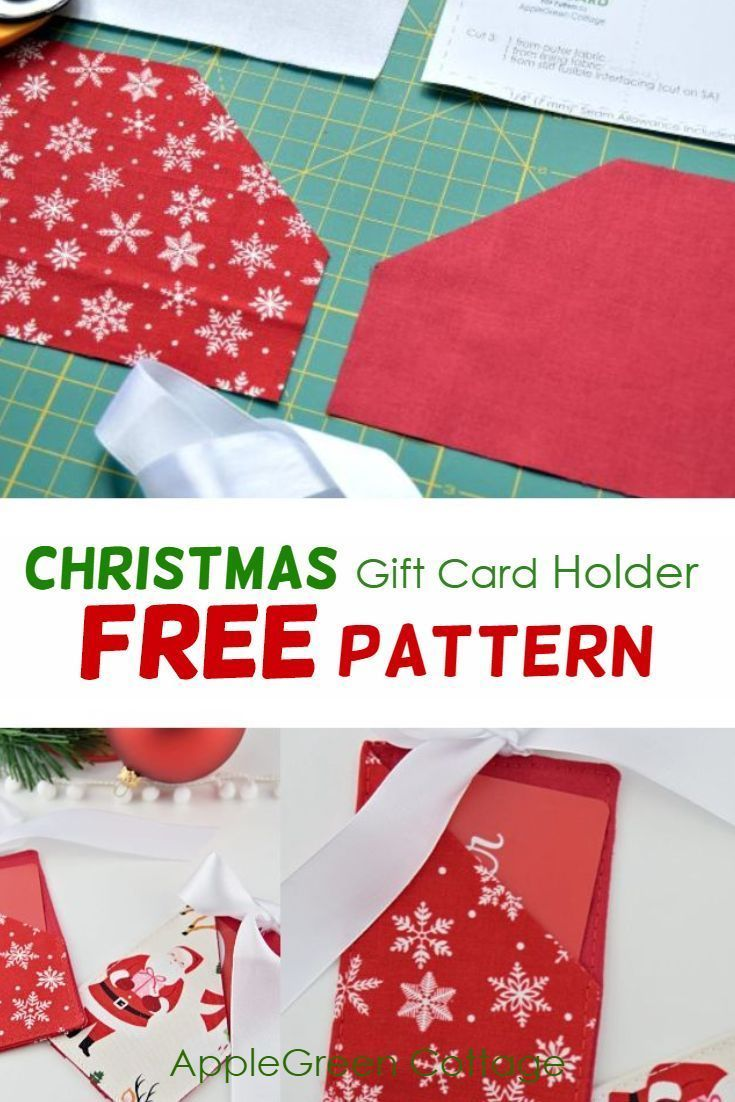 Christmas Gift Card Holder Free Template Applegreen Cottage Christmas Gift Card Holders Gift Card Holder Christmas Gift Card