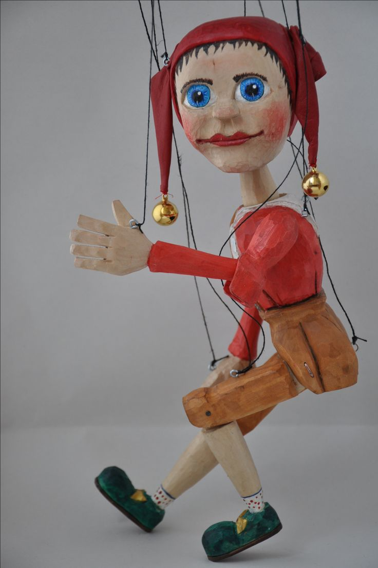 marionette of jester lime wood
