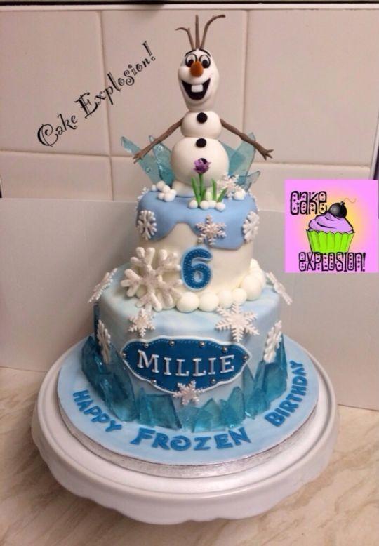 Olaf the Snowman Cake