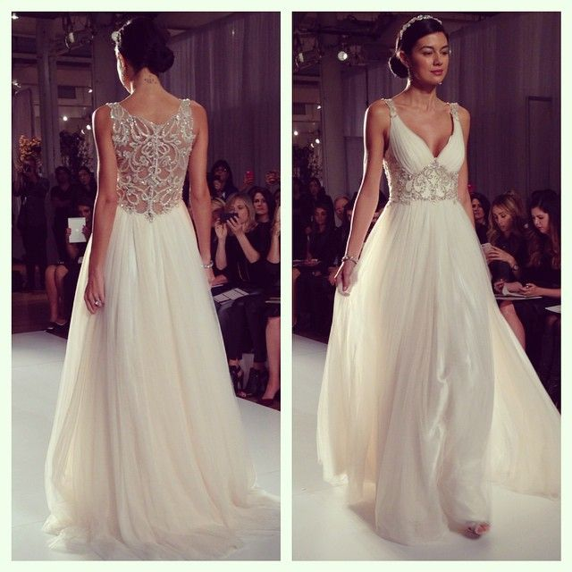 A jaw-dropping back from the Maggie Sottero show!