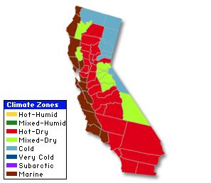 California Climate Zones Information Pinterest