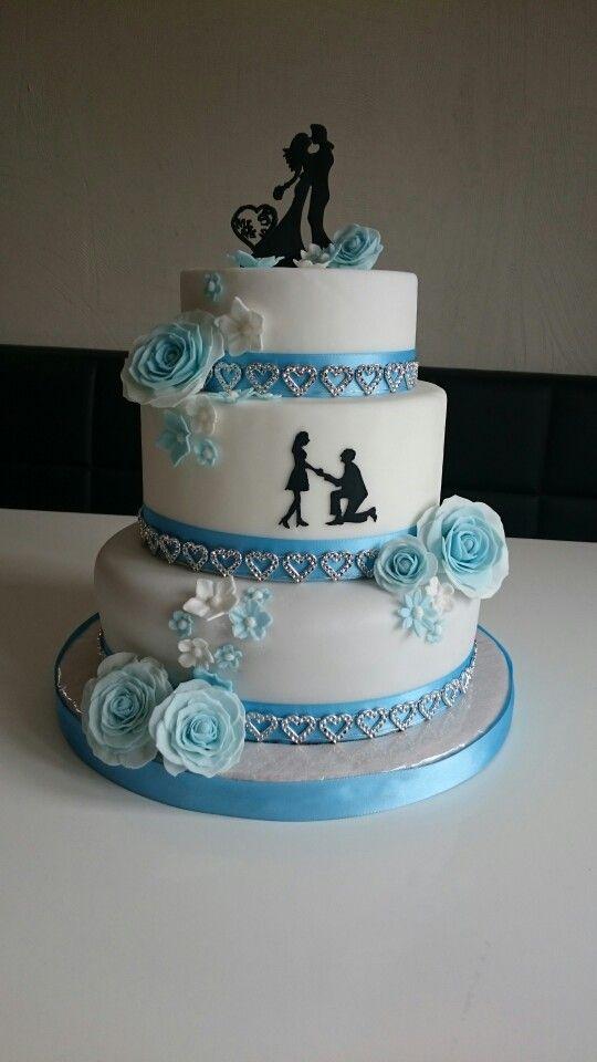 hochzeitstorte blau weiß hochzeitstorte blau hochzeit steffi kuchen ...