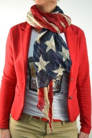American flag scarf - Amerikaanse vlag sjaal