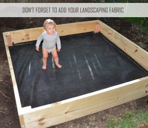 How to make a sandbox for your geek baby.