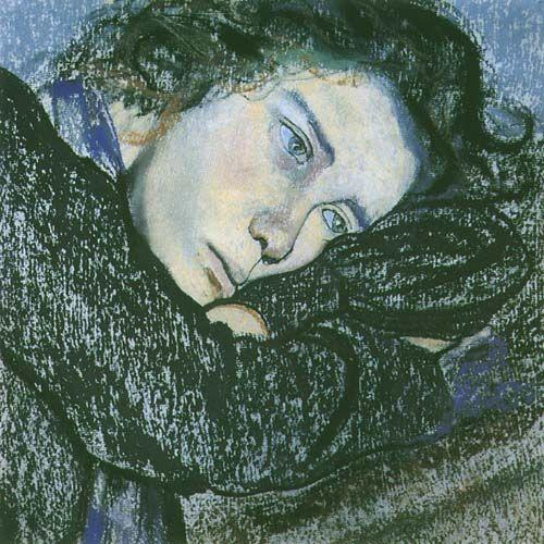 Stanisław Wyspiański - Studium kobiety  pastel, paper