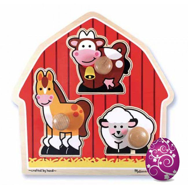 DAY 3 FIND: Melissa had farm... the perfect first puzzle, sized to suit little hands! #entropytoys #easter #easteregghunt #competition