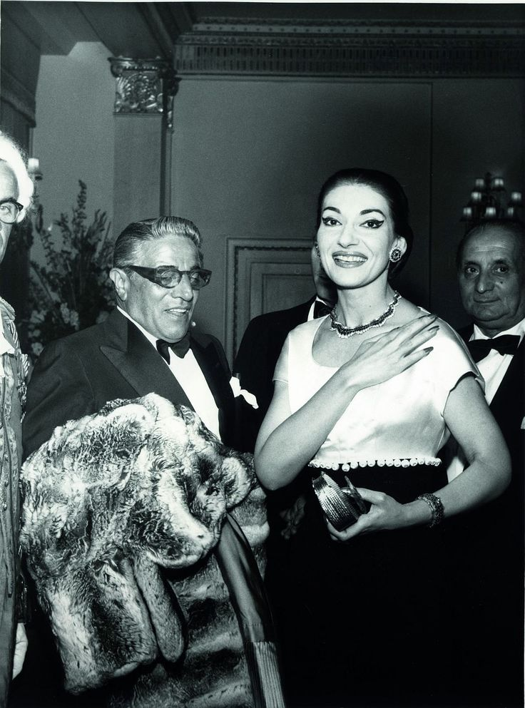 Aristote Onassis and Maria Callas at The Dorchester, London, 1959. Photo by Desmond O'Neill