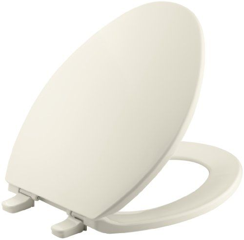 KOHLER K-4774-47 Brevia with Quick-Release Hinges Elongated Toilet Seat, Almond -- Check out this great product.