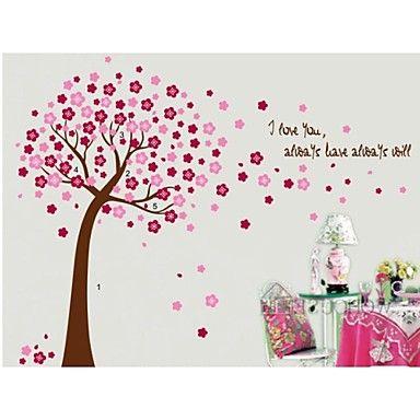πολύχρωμο δέντρο λουλούδι για αυτοκόλλητο παιδιά τοίχο του δωματίου zooyoo9026 διακοσμητικά αφαιρούμενο αυτοκόλλητο PVC τοίχο – EUR € 6.71