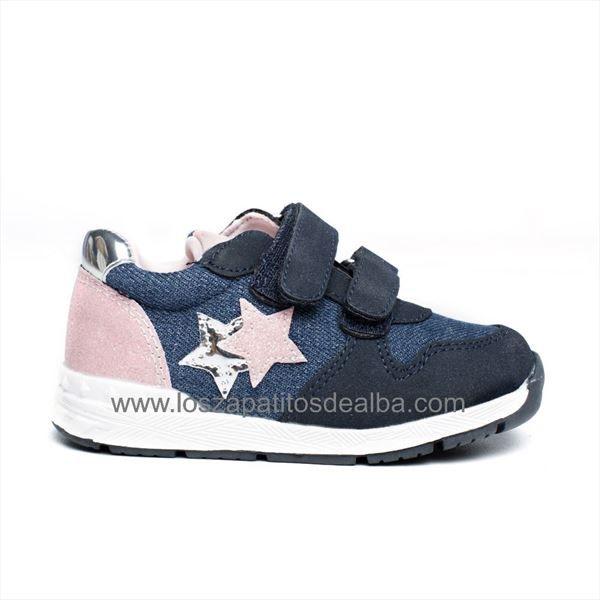 Zapatillas Deportivas baby azul modelo Stars
