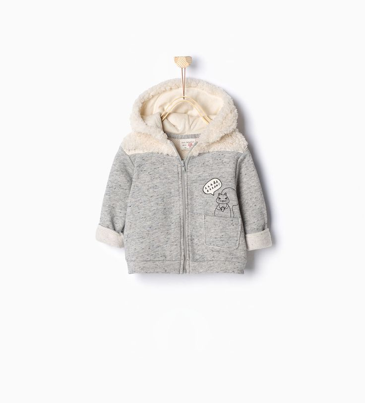 ZARA - PROMOCIJA - Fleece plush sweatshirt