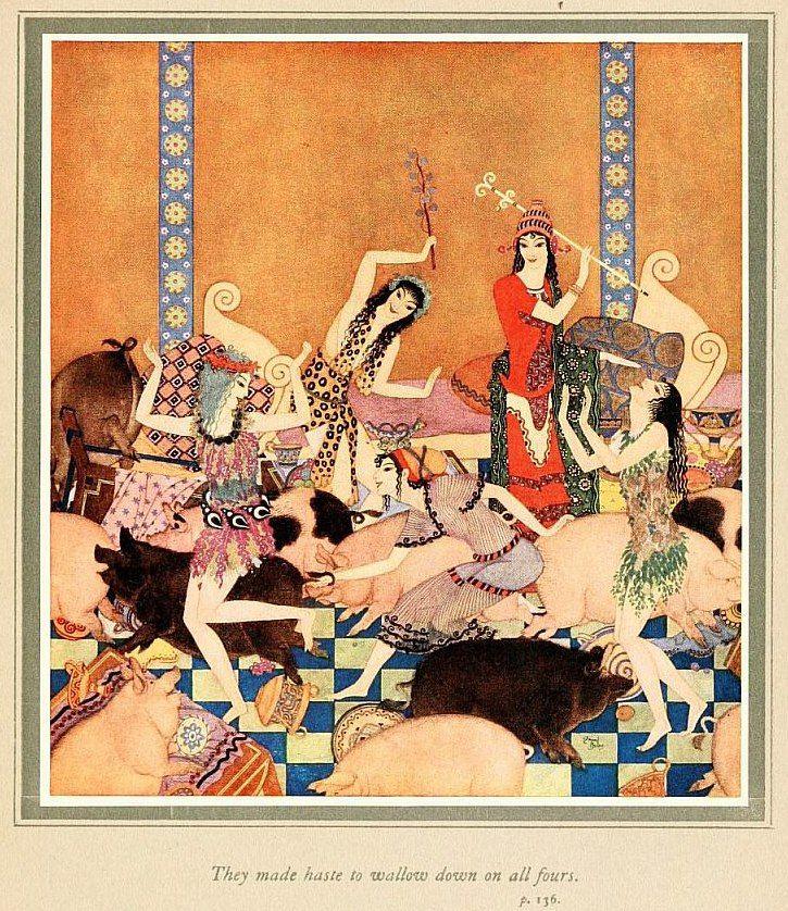 https://vk.com/booksgraphics?w=wall-62494679_8900 Nathaniel Hawthorne. Tanglewood tales Illustrator Edmund Dulac (Эдмунд Дюлак), 1919