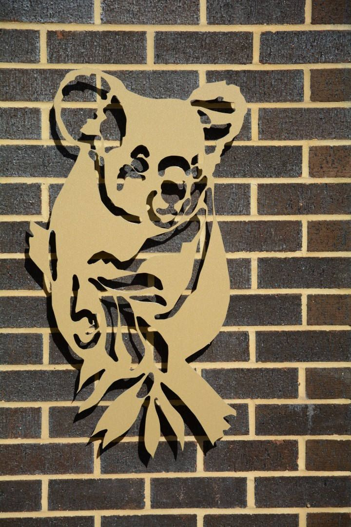 Koala decorative panel for Home and Garden by Standoz on Etsy