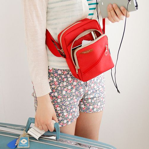 Iconic Voyager Body Cross Bag_Travel Riding Organizer_iPad Mini/Camera/Passport/Wallet