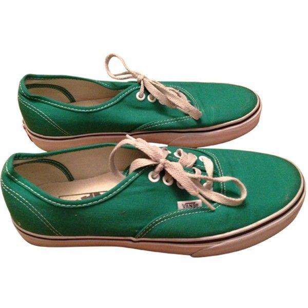 Baskets VANS Vert (295 CNY) ❤ liked on Polyvore featuring shoes, sneakers, vans, schuhe, vans sneakers, vans footwear, vans trainers and vans shoes