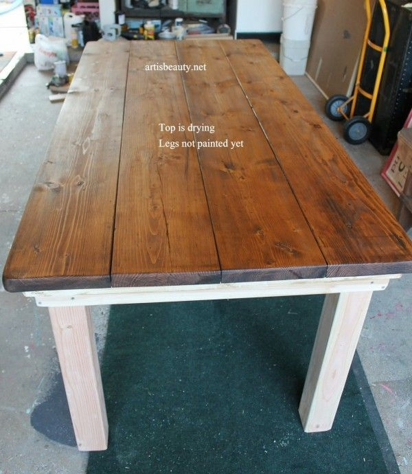 Build a Farmhouse Table For Under $100 | Remodelaholic | Bloglovin'
