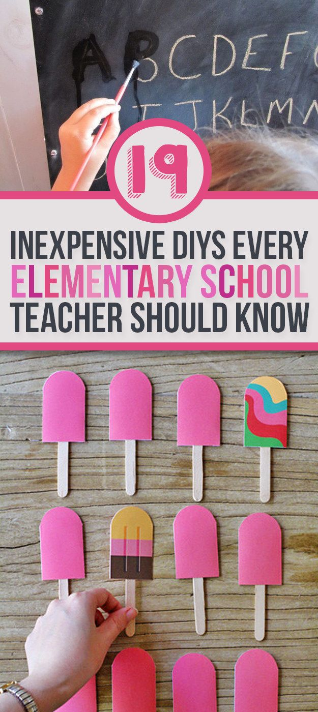 19 Ridiculously Simple DIYs Every Elementary School Teacher And Parent Should Know