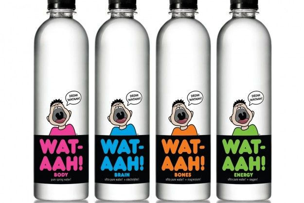 WAT-AAH!, created by mother Rose Cameron in conjunction with her children, is bottled water directly marketed for kids