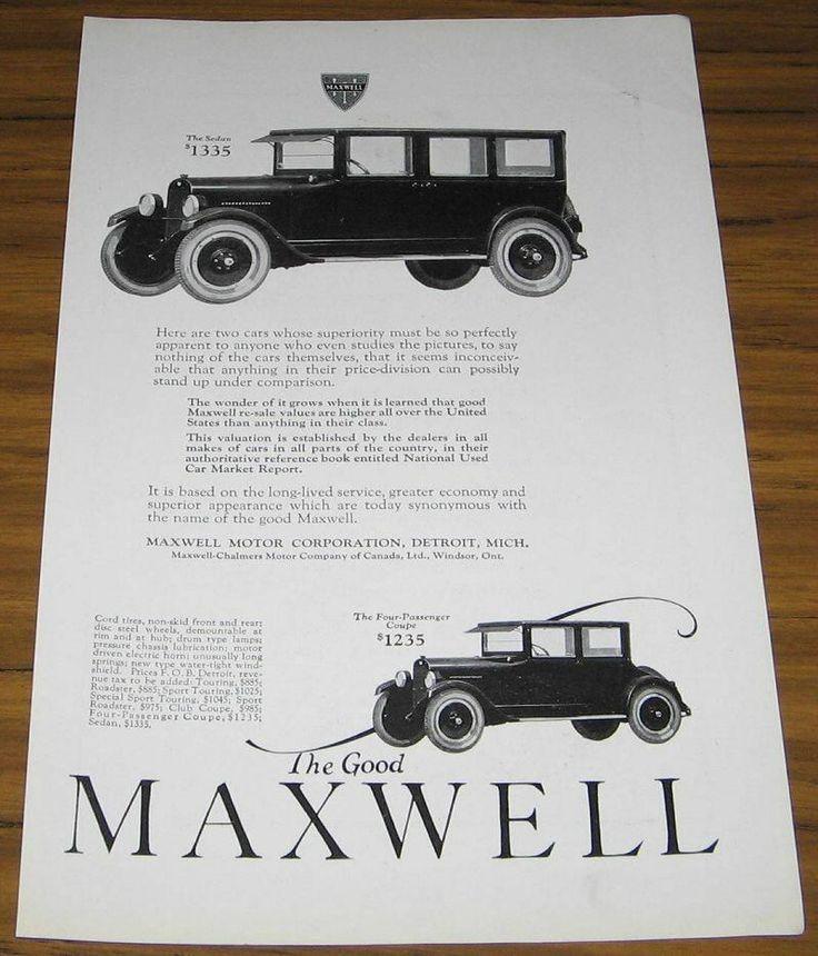 The 18 best 1920\'s Car Ads images on Pinterest   Vintage ads ...